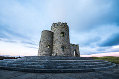 O'Brien's Tower and the Cliffs of Moher Royalty Free Stock Photo