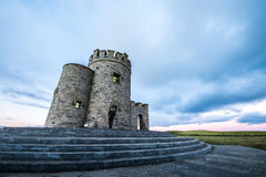 O'Brien's Tower and the Cliffs of Moher Royalty Free Stock Images