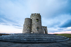 O'Brien's Tower and the Cliffs of Moher Stock Photography