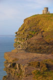 OBriens Tower on top of Cliffs of Moher Stock Photography