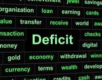 Obrigação financeira e atrasos dos meios dos débitos do deficit Fotografia de Stock Royalty Free