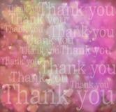 Obrigado amar o fundo do papel de parede dos corações Imagem de Stock