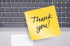 Obrigado anotar no teclado Foto de Stock Royalty Free