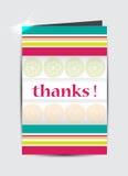 Obrigado cartão. ilustração royalty free