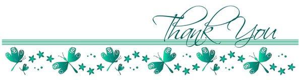Obrigado cartão da libélula Imagem de Stock