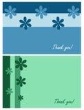 Obrigado cartões Fotografia de Stock