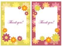 Obrigado cartões ilustração stock
