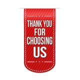Obrigado escolhendo nos projeto da bandeira Imagens de Stock Royalty Free