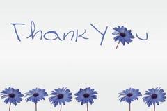 Obrigado florescer o cartão da decoração ilustração do vetor