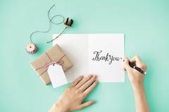 Obrigado gratitude Marci Gracias Danke Concept fotografia de stock royalty free