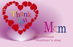 Obrigado mamã, dia de mães feliz Imagens de Stock