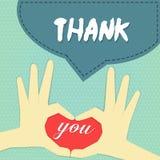 Obrigado o cartão 2 Imagem de Stock
