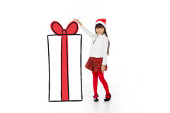 Obrigado Papai Noel para este presente Imagem de Stock