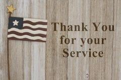 Obrigado para sua mensagem de serviço imagens de stock royalty free