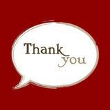 Obrigado projeto de mensagem no discurso da bolha | molde moderno do cartão gráfico Fotos de Stock Royalty Free