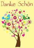 Obrigado árvore Imagens de Stock