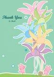 Obrigado tanto ajudar a flor do toque do gato ilustração stock