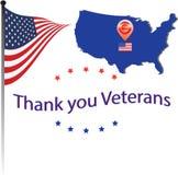 Obrigado veteranos Fotografia de Stock