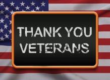 Obrigado veteranos servindo EUA Fotos de Stock Royalty Free