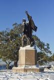 Obrońcy fortu Sumter zabytek, Bateryjny park, Charleston, SC zdjęcia royalty free