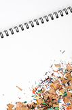 obrońca ołówka opiłki koloru Obrazy Royalty Free