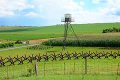 Obrony granica i wieża obserwacyjna, Satov, republika czech Zdjęcie Royalty Free