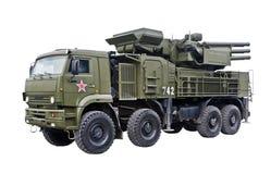 obrony powietrznej armatni pociska pantsyr s1 system Obraz Royalty Free