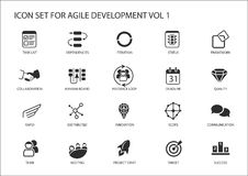 Obrotny oprogramowanie rozwoju ikony set ilustracja wektor