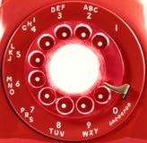 obrotowa tarcza czerwonego telefonu Zdjęcia Stock