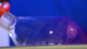 Obrotowy ewaporator w substanci chemicznej, środka farmaceutycznego i biotechnologii przemysle, zdjęcie wideo