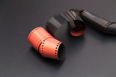 Obruszenie rolki film dla diapozytywów zdjęcie royalty free