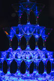 Obruszenie szampana szkła Zdjęcia Royalty Free