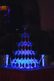 Obruszenie szampana szkła Fotografia Stock