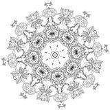 Obrysowywający azjata stylu kwiaty ilustracja wektor