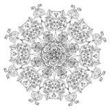 Obrysowywający azjata stylu kwiaty royalty ilustracja