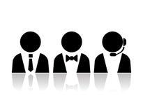 Obsług klienta persons ilustracja wektor