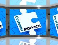 Obsługa Klienta Na ekranie Pokazuje obsługę klienta Zdjęcia Stock