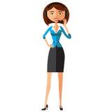 Obsługi Klienta centrum telefonicznego operator Na obowiązku Kobiety obsługi klienta wektoru ilustracja Obrazy Stock