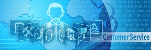 Obsługi Klienta komunikaci sztandar Zdjęcia Stock