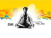 Obsługuje ćwiczy joga pozę, 21st Czerwa joga międzynarodowy dzień Zdjęcia Stock