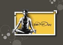 Obsługuje ćwiczy joga pozę, 21st Czerwa joga międzynarodowy dzień Fotografia Royalty Free