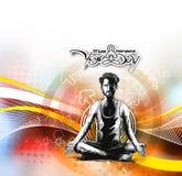 Obsługuje ćwiczy joga pozę, 21st Czerwa joga międzynarodowy dzień Obraz Stock