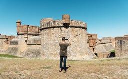 Obsługuje brać obrazek fort De Salses, Francja Zdjęcie Royalty Free