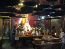 Obsługuje Mo świątynię na głównej wyspie, Hong Kong zdjęcia stock