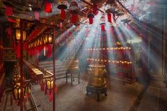Obsługuje Mo świątynię w Hong Kong, ja jest jeden sławna świątynia Fotografia Stock