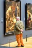 Obsługuje patrzeć obraz w Rijksmuseum, Amsterdam obraz stock
