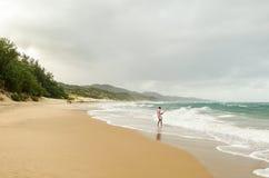 Obsługuje połów w oceanie indyjskim, august 2013 Isimangaliso bagna park, Południowa Afryka Fotografia Stock