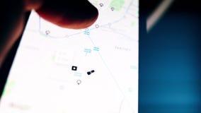 Obsługuje używać Uber Podaniowego iPhone z wycieczki części funkcją obracającą dalej zbiory wideo
