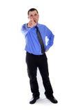Obsługuje wskazywać przy tobą w koszula i krawacie Obrazy Stock