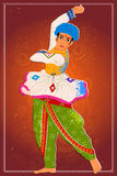 Obsługuje wykonywać Garba ludowego tana Gujarat, India Zdjęcia Stock